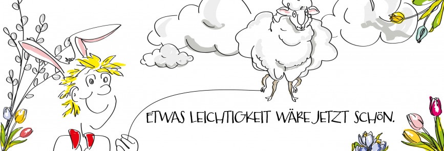 """Die luftig leichte Osterlammwolke - """"Etwas Leichtigkeit wäre jetzt schön"""""""